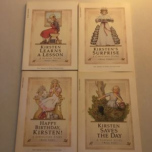 4 American Girl Kirsten books